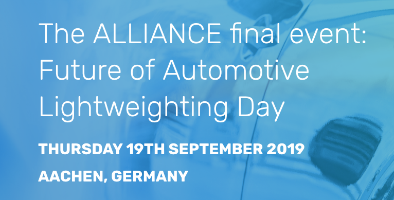 The ALLIANCE final event: Future of Automotive Lightweighting Day